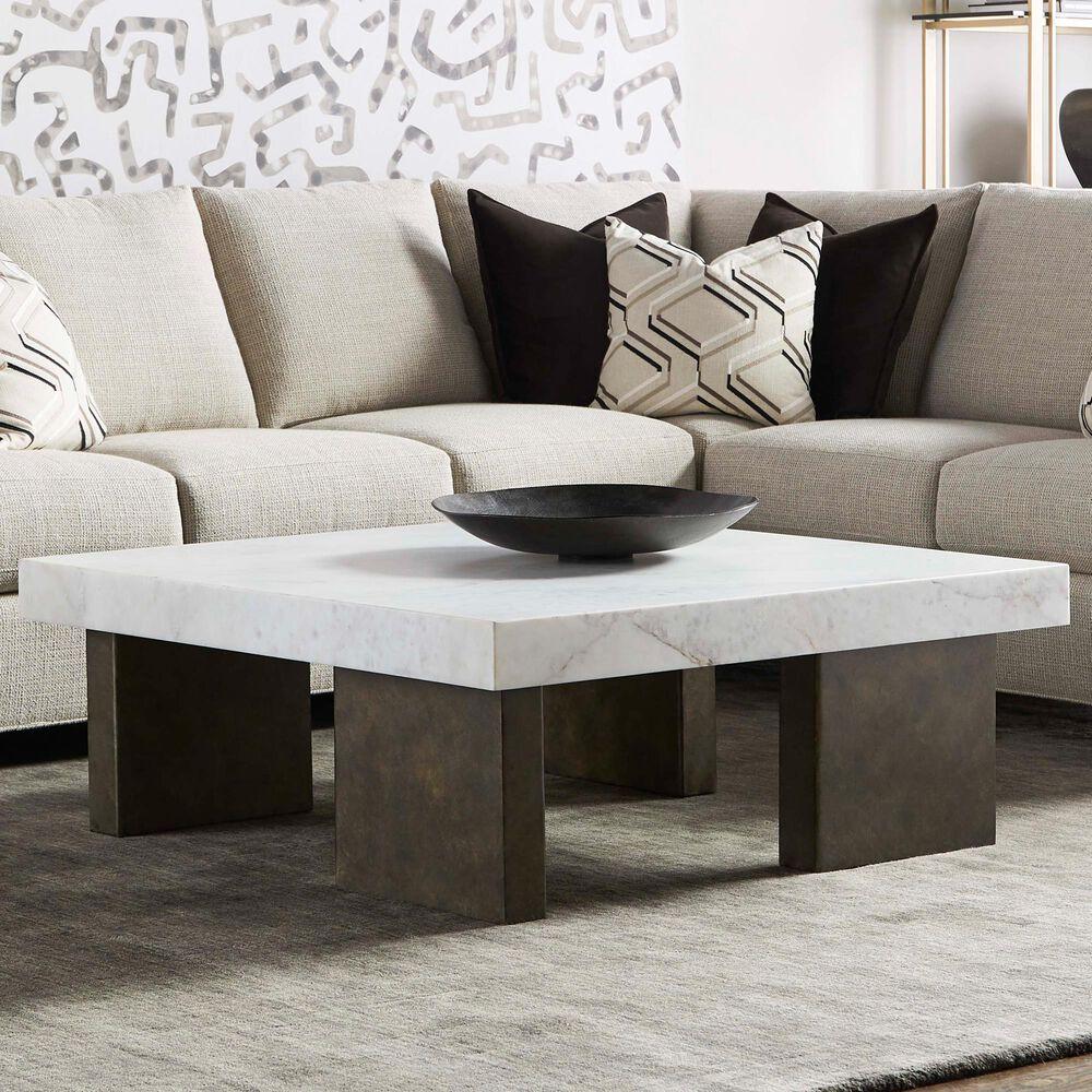 Vanguard Furniture Santa Cruz Cocktail Table in Bronze and White, , large
