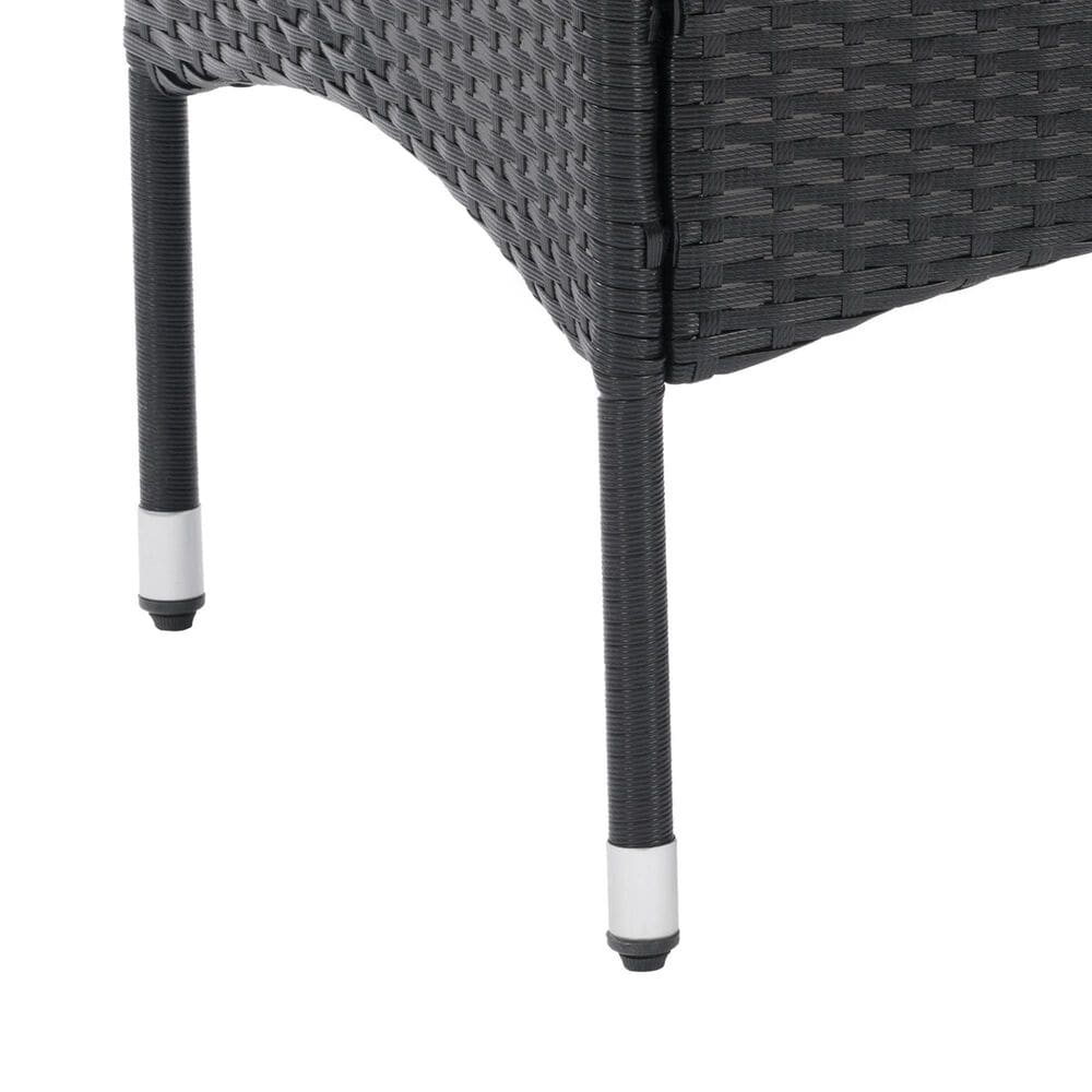 CorLiving Parksville Patio Side Table in Black, , large