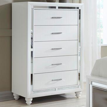 Global Furniture USA Mackenzie 5 Drawer Chest in White, , large
