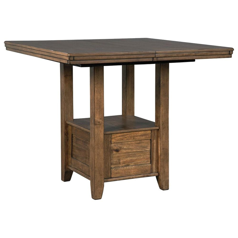 Signature Design by Ashley Flaybern Counter Height Dining Table in Brown    Table Only   NFM