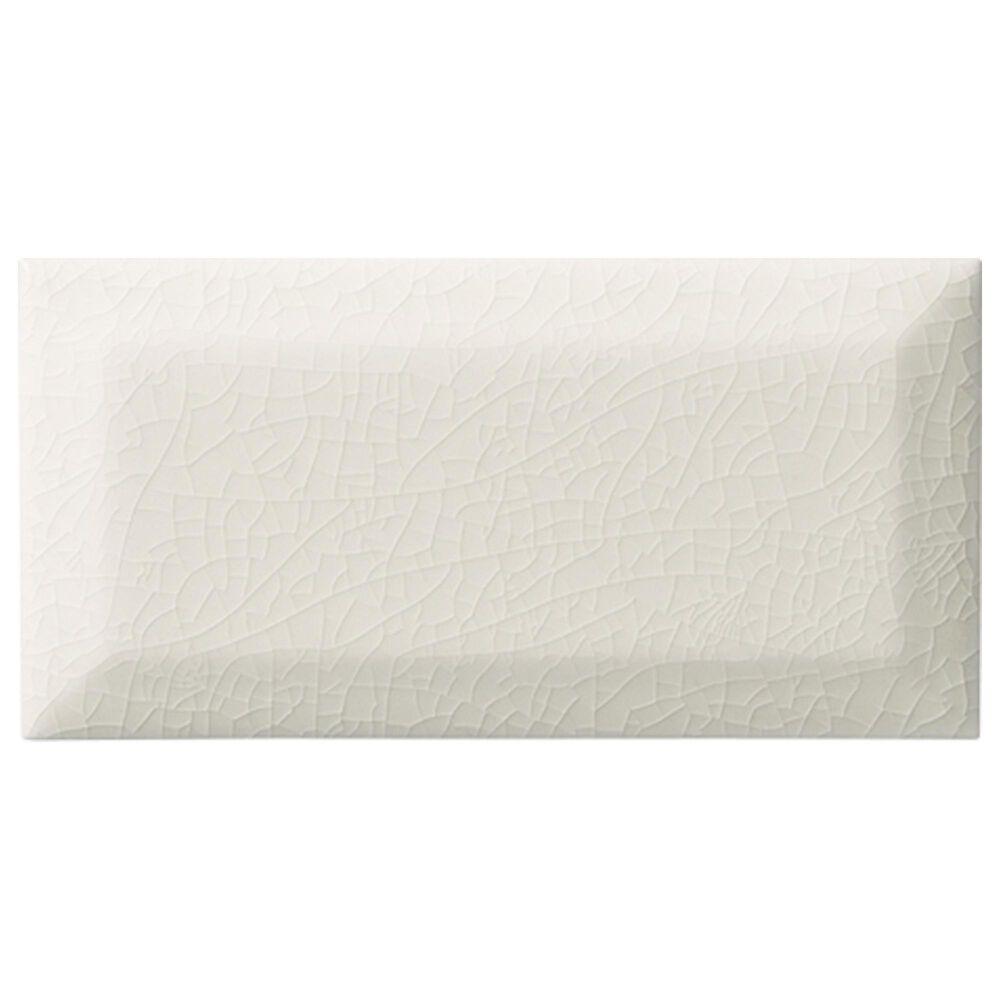 Elon Hampton White Glossy Beveled Ceramic Tile, , large