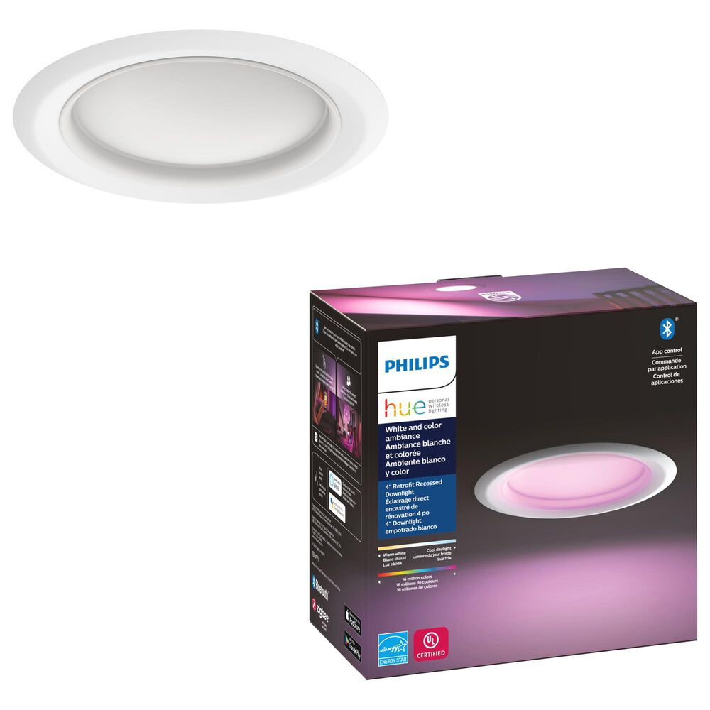 "Philips Hue 4"" White and Color Downlight in White, , large"