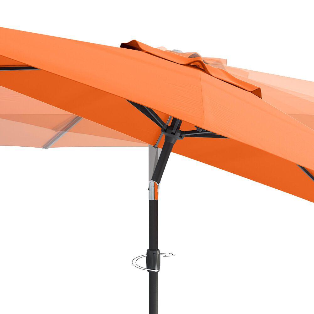 CorLiving 10' UV & Wind Resistant Patio Umbrella in Orange, , large