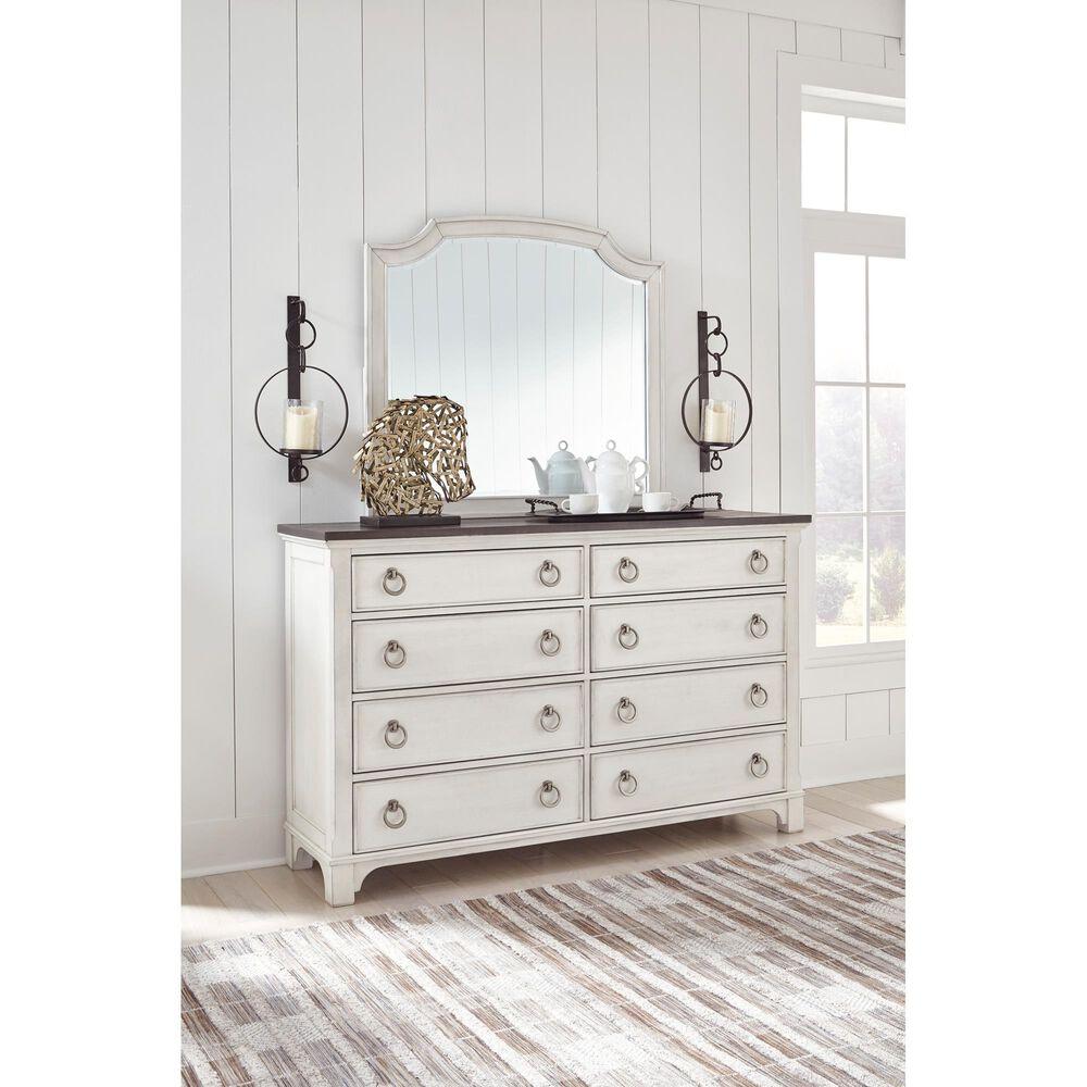 Signature Design by Ashley Nashbryn Dresser in Whitewash and Dark Brown, , large