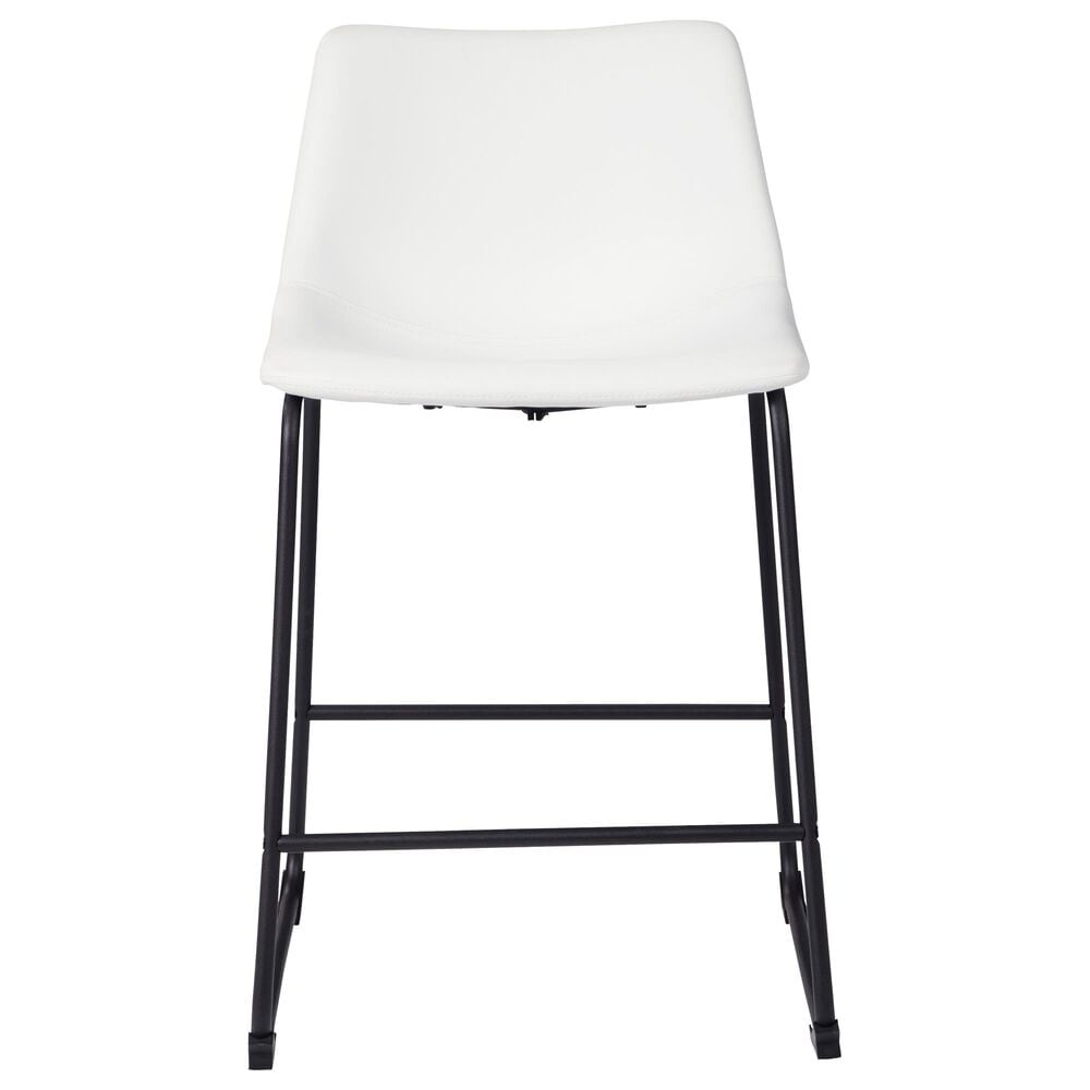 """Signature Design by Ashley Centiar 24"""" Counter Stool in White, , large"""
