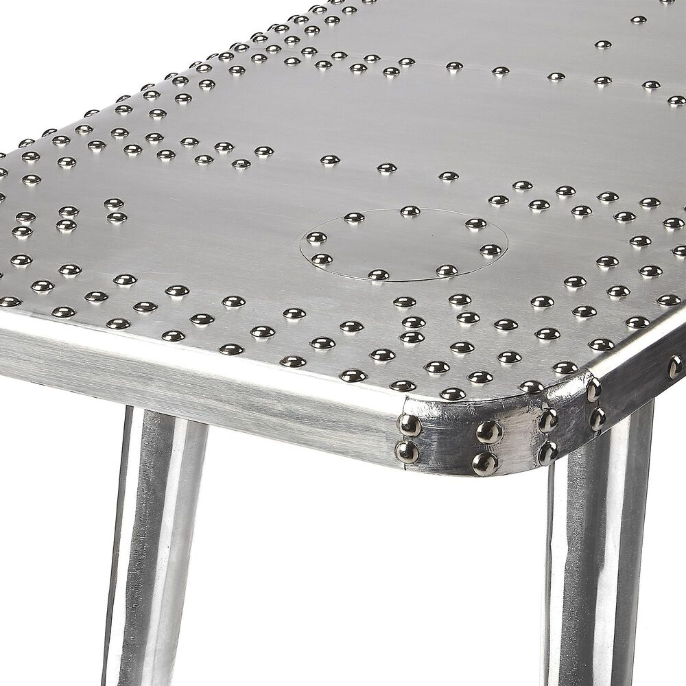 Butler Midway Aviator Pub Table in Silver, , large
