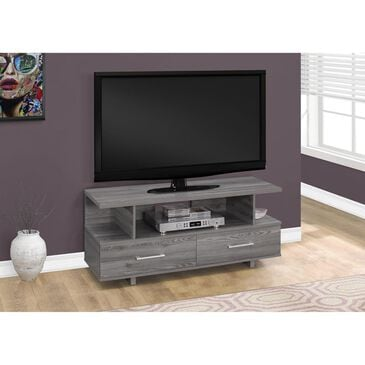 "Monarch Specialties 48"" TV Stand with 2 Storage Drawers in Grey, , large"
