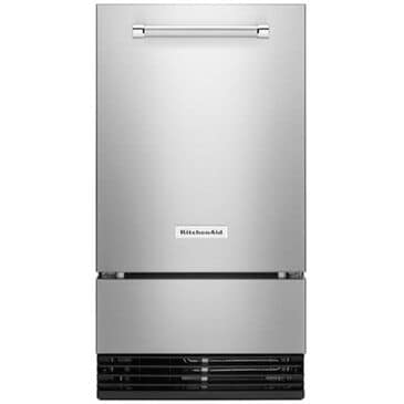 """KitchenAid 18"""" Automatic Ice Maker with PrintShield Finish in Stainless Steel , Stainless Steel, large"""