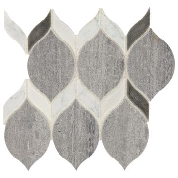 "Dal-Tile Fonte Heather Harbor Blend 6"" x 12"" Natural Stone Mosaic Sheet, , large"