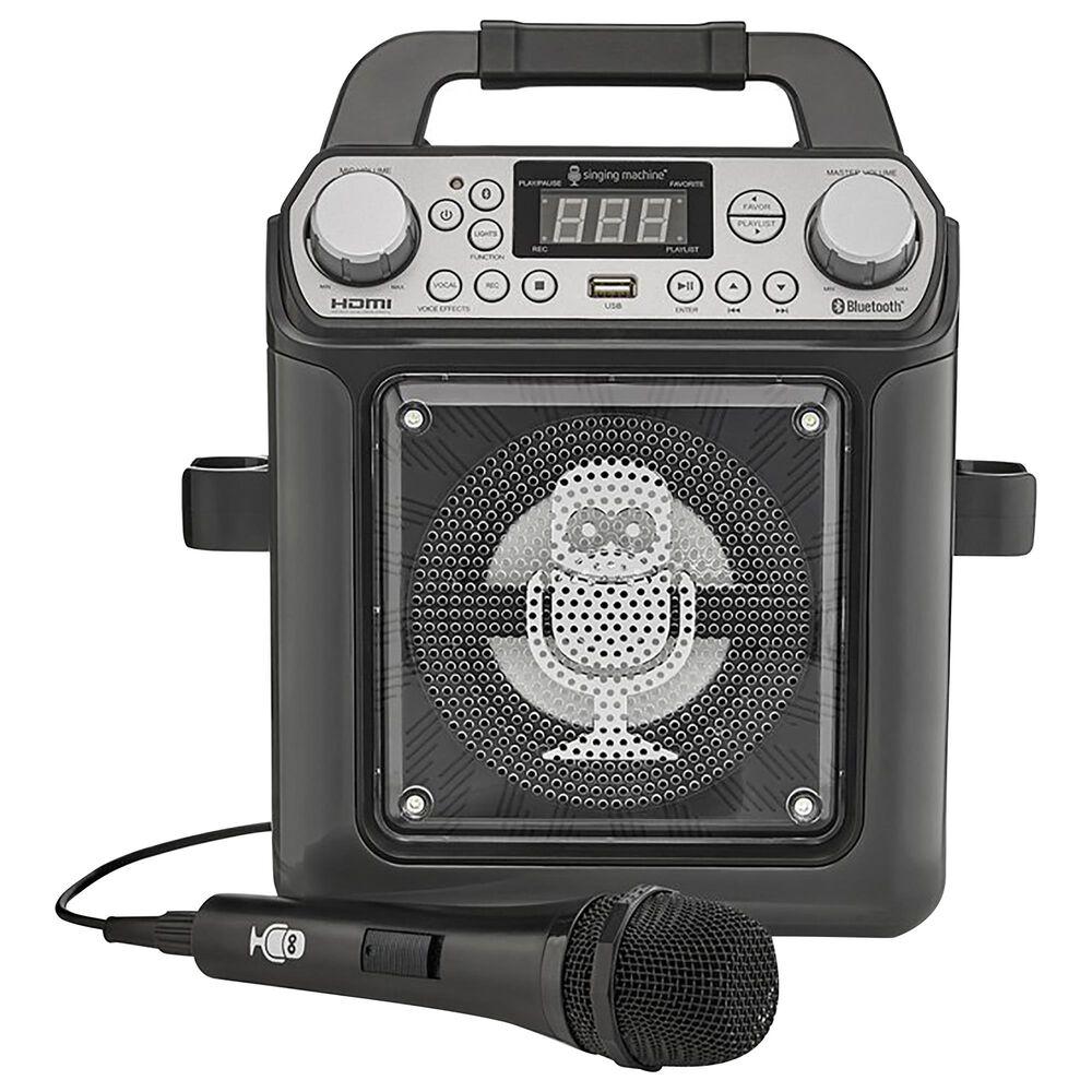 Singing Machine HDMI Groove Mini Karaoke Machine in Black, , large