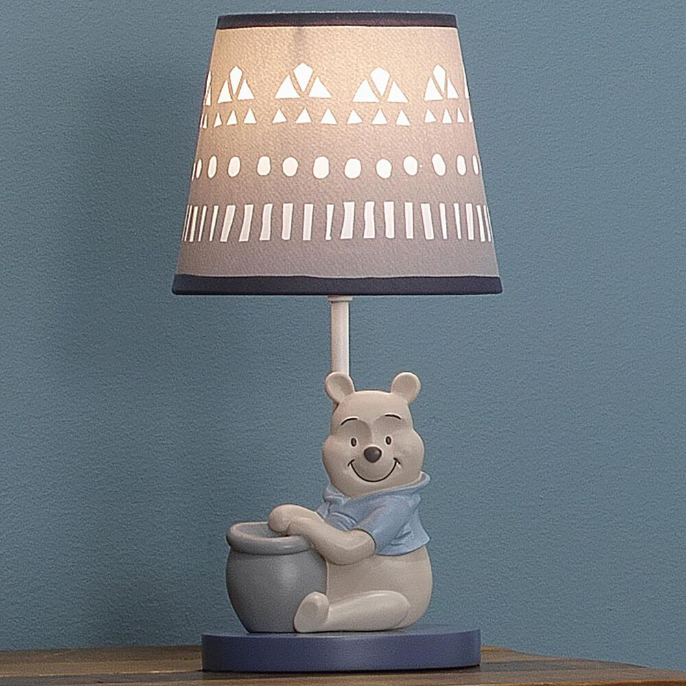 Lambs and Ivy Pooh Lamp with Shade and Bulb in Multicolor, , large