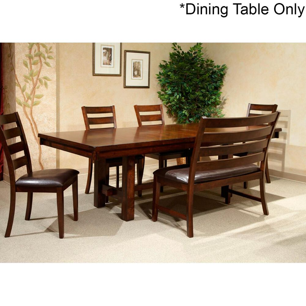Hawthorne Furniture Kona Trestle Dining Table in Raisin - Table Only, , large
