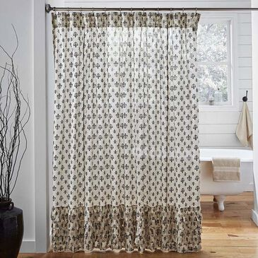 VHC Elysee Shower Curtain in Tan, , large