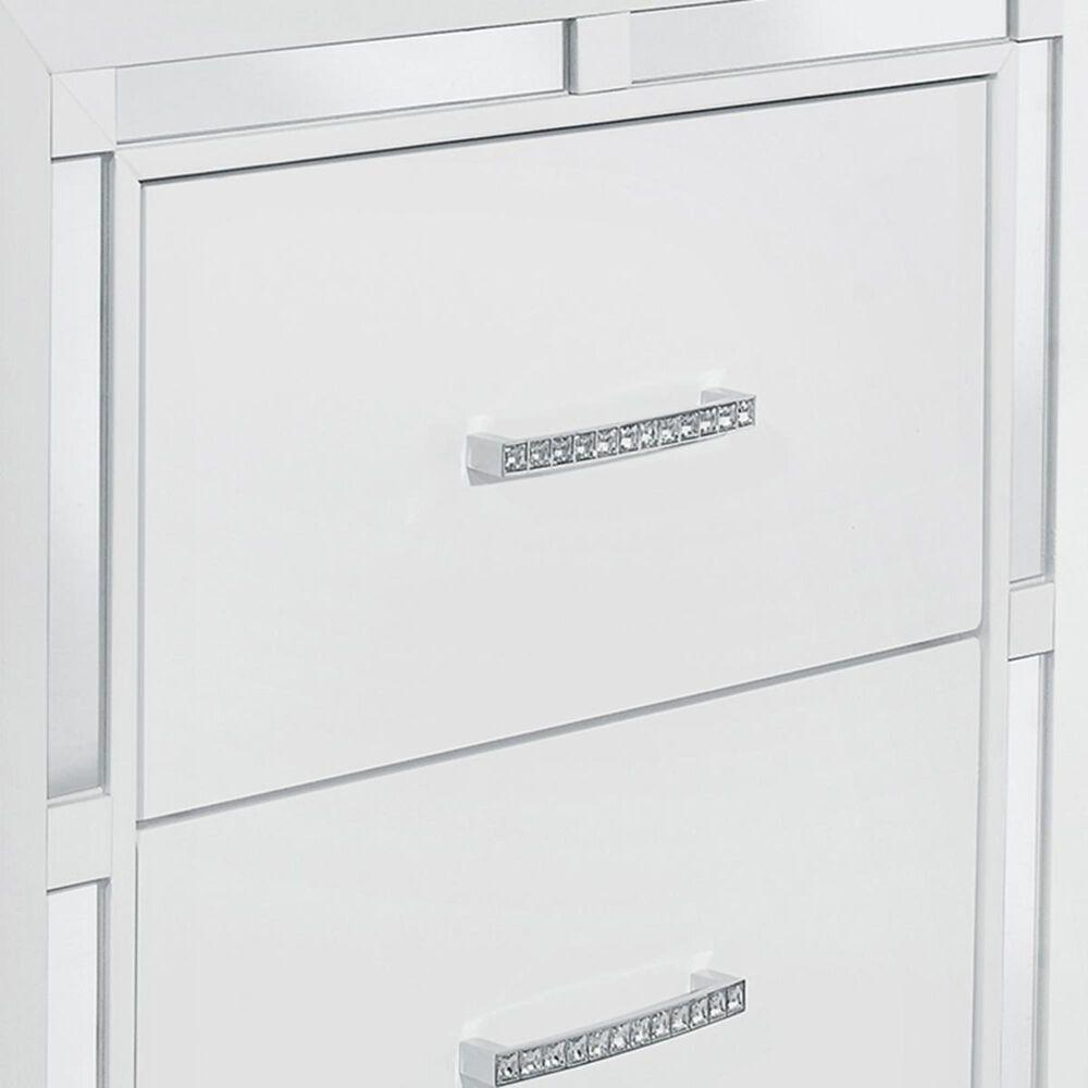 Global Furniture USA Mackenzie 2 Drawer Nightstand in White, , large