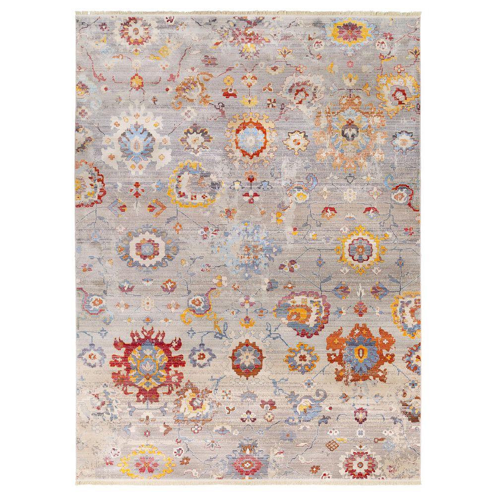 "Surya Ephesians 9' x 12'8"" Gray, Aqua, Orange and Red Area Rug, , large"
