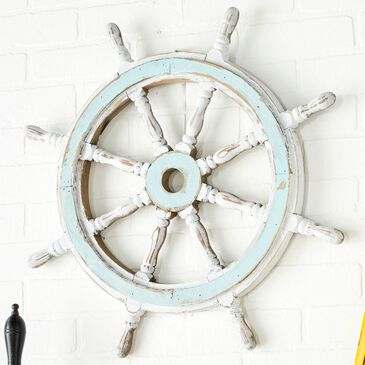"""Maple and Jade 24"""" Shipwhell in White, , large"""