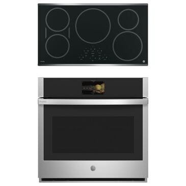 """GE Appliances 5.0 Cu. Ft. Smart Built-In Convection Single Wall Oven and 36"""" Built-In Touch Control Induction Cooktop in Stainless Steel, , large"""