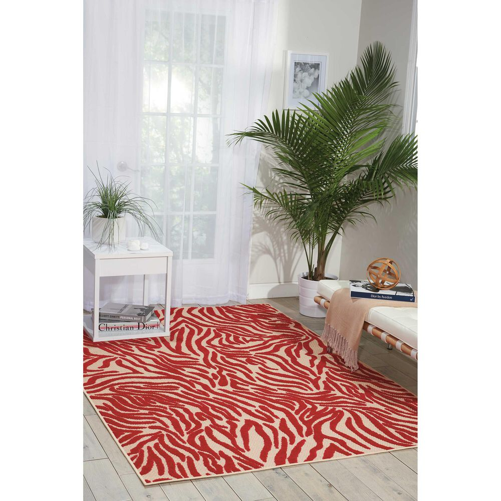 "Nourison Aloha ALH04 9'6"" x 13' Red Area Rug, , large"