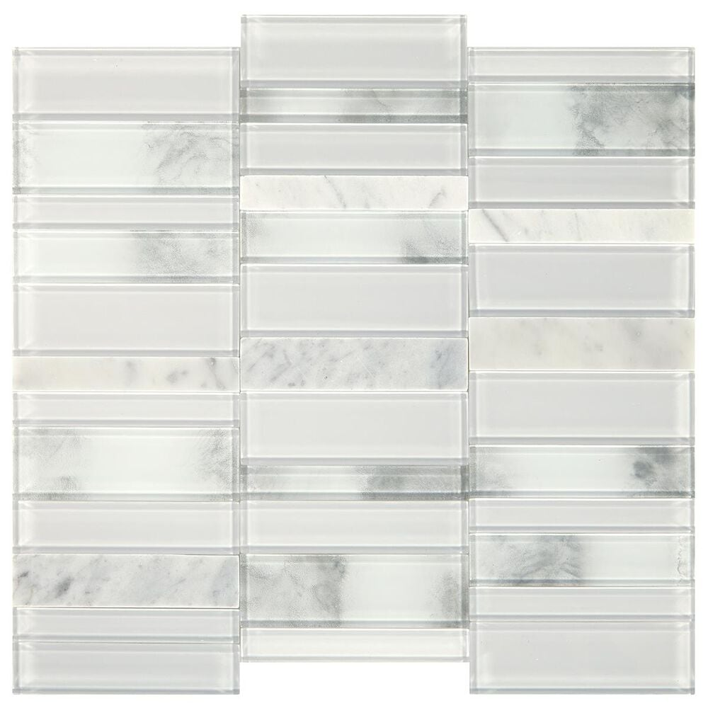 """Dal-Tile SimplyStick Stormy Mist 12""""x12"""" Straight Stack Mosaic Sheet, , large"""