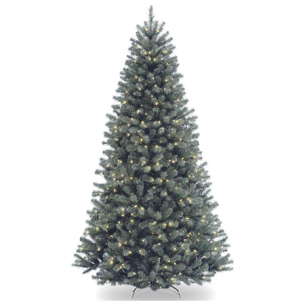"""National Tree 9"""" North Valley Blue Spruce Tree with 800 White Lights, , large"""