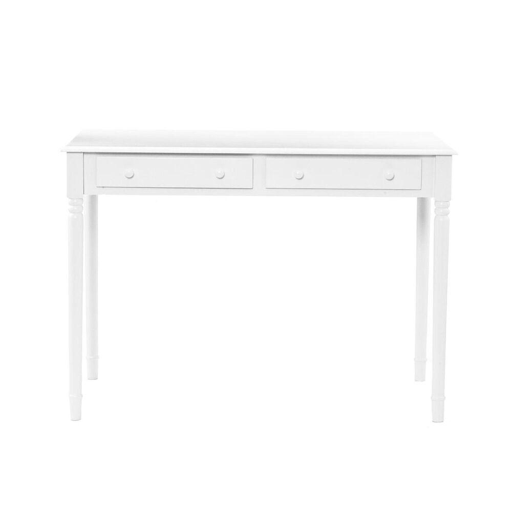 Southern Enterprises Writing 2-Drawer Desk - Crisp White, , large
