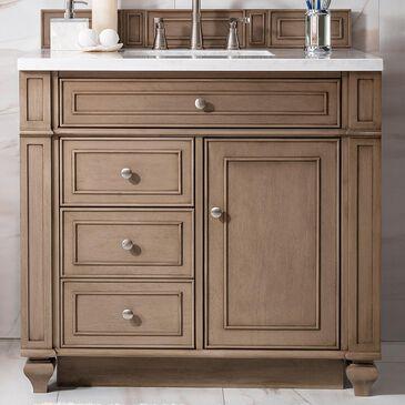 "James Martin Bristol 36"" Single Bathroom Vanity Cabinet in White Washed Walnut, , large"