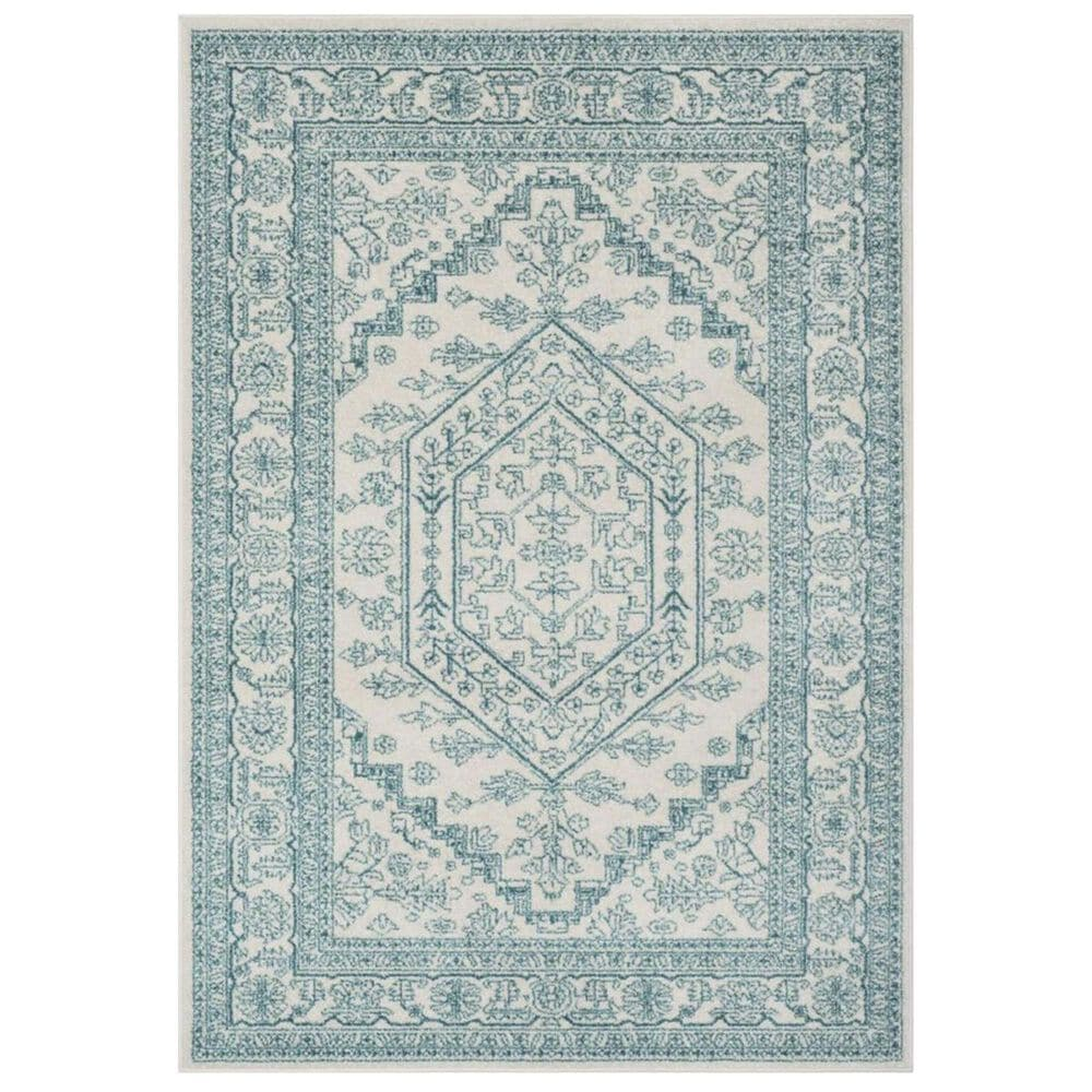 "Safavieh Adirondack ADR108G 5'1"" x 7'6"" Ivory and Teal Area Rug, , large"