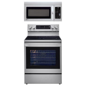 LG 2-Piece Kitchen Package with 6.3 Cu. Ft. InstaView Electric Range in Stainless Steel, , large