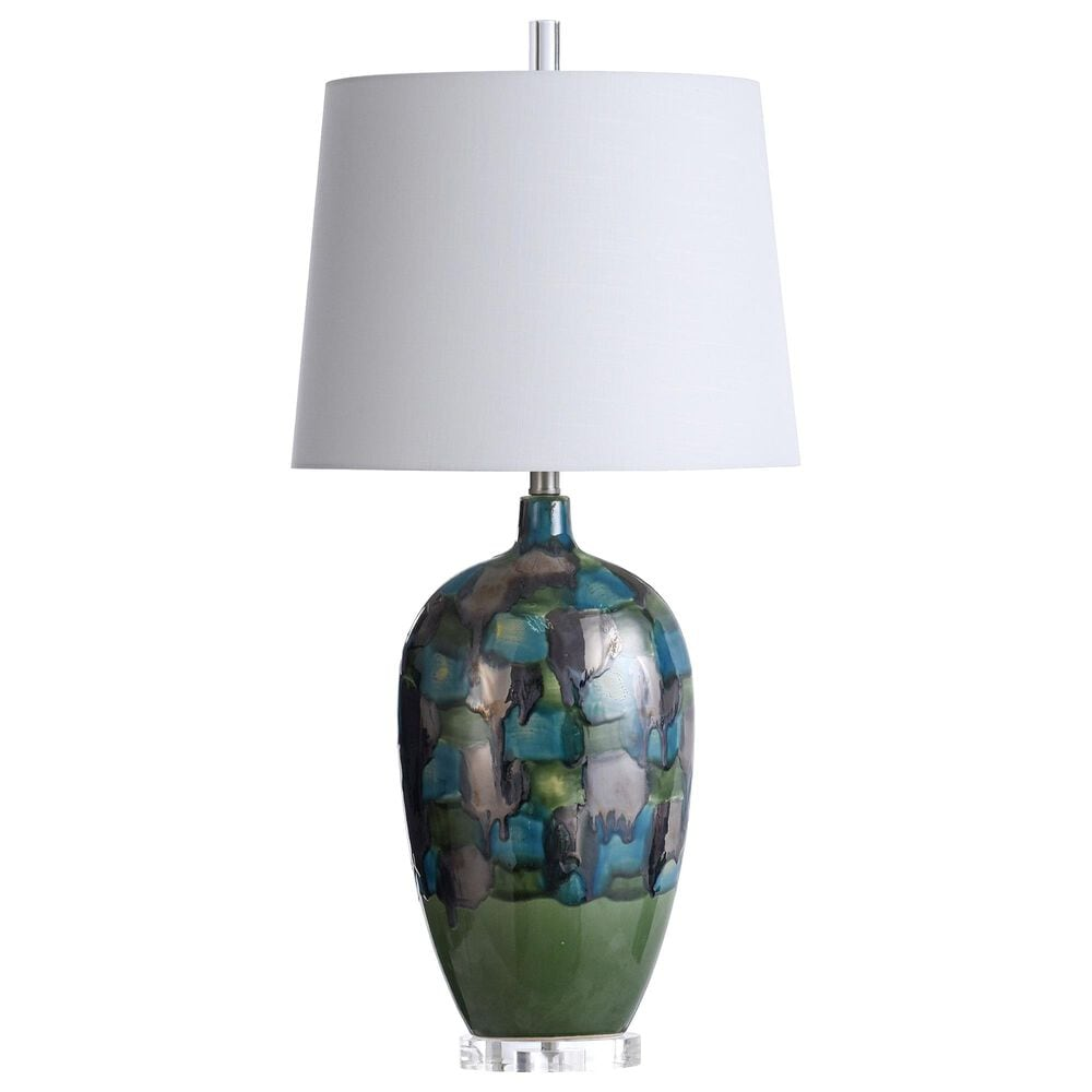 Flair Industries Ceramic and Crystal Table Lamp in Cecco, , large