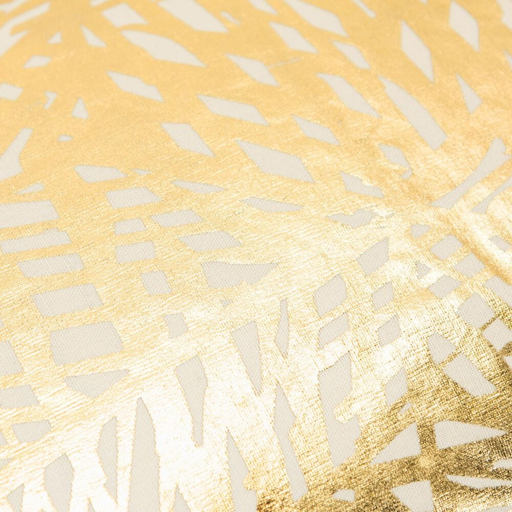 """Rizzy Home Geometric 14"""" x 26"""" Pillow Cover in Gold, , large"""