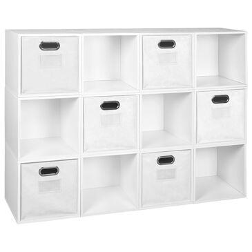Regency Global Sourcing Niche Cubo 18-Piece Storage Set in White Wood Grain/White, , large