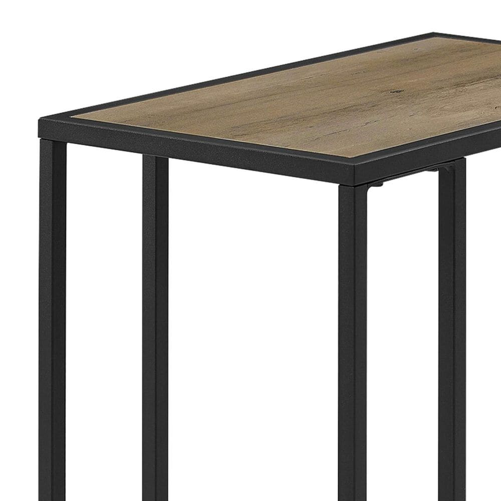 Walker Edison C Table in Grey Wash and Black, , large