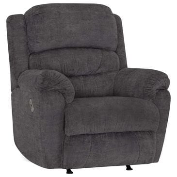 Moore Furniture Dallas Power Rocker Recliner with Power Headrest and USB in Covalent Cement Velvet, , large