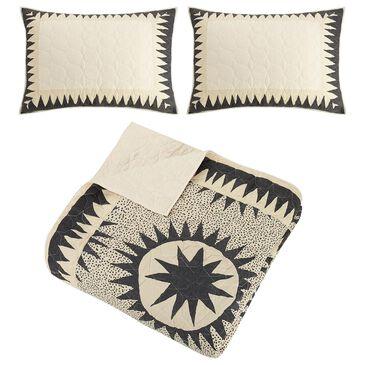 Peking Handicraft Soleil 3-Piece Full/Queen Quilt Set in Cream, , large