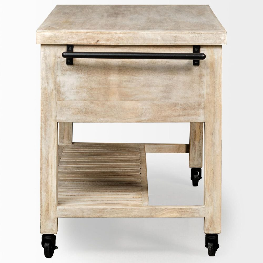 Mercana Columbia I Kitchen Island in Light Distressed , , large