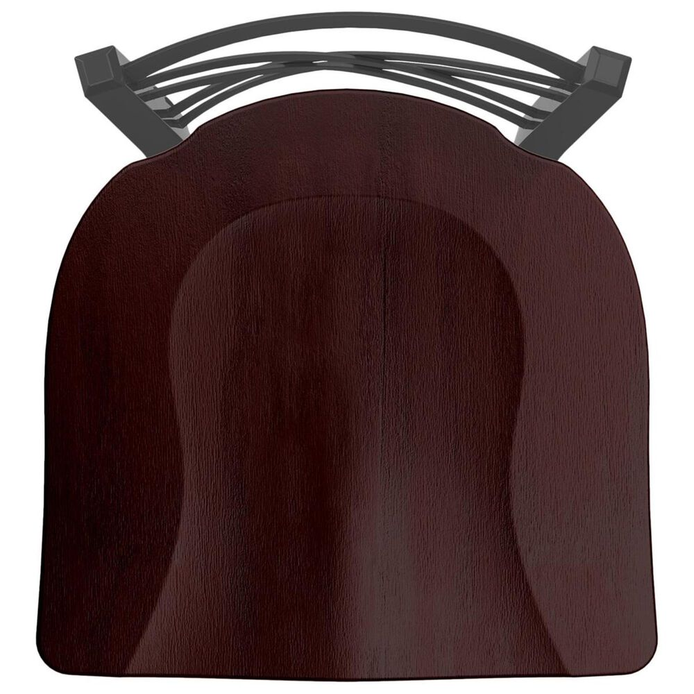 """Holland Bar Stool 620 Catalina 18"""" Chair with Pewter and Dark Cherry Maple Seat, , large"""