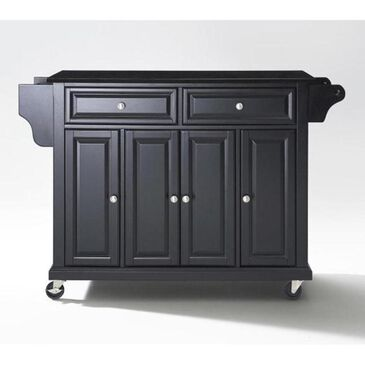 Crosley Furniture Black Solid Black Granite Top Kitchen Cart, , large