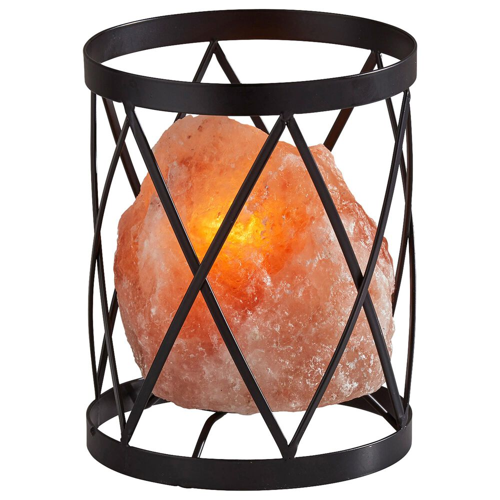 Adesso Trust Himalayan Salt Table Lamp in Black and Pink, , large