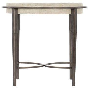 Bernhardt Barclay Round Chairside Table in Antique Pewter, , large