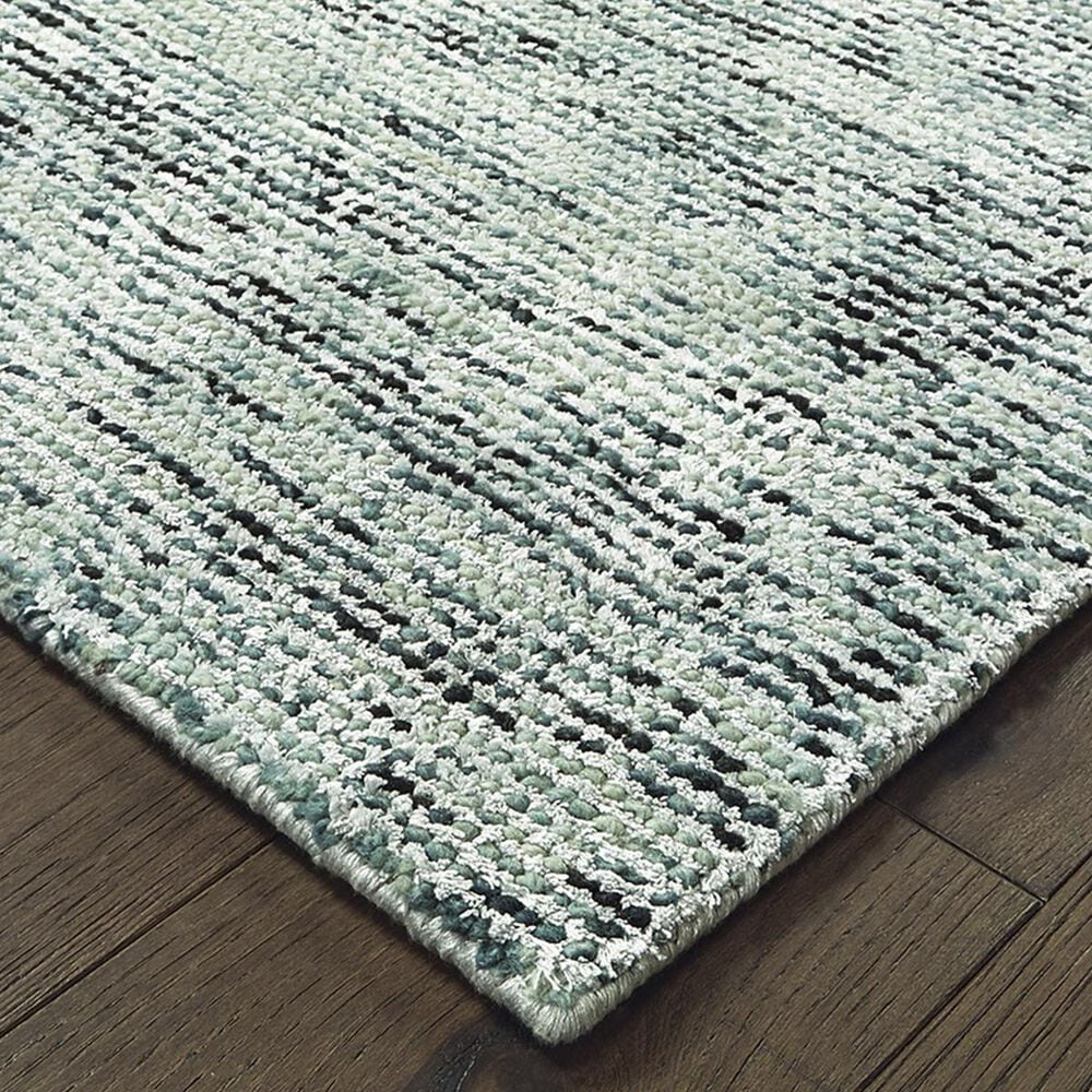 """Oriental Weavers Lucent 45901 2'6"""" x 8' Blue and Teal Runner, , large"""