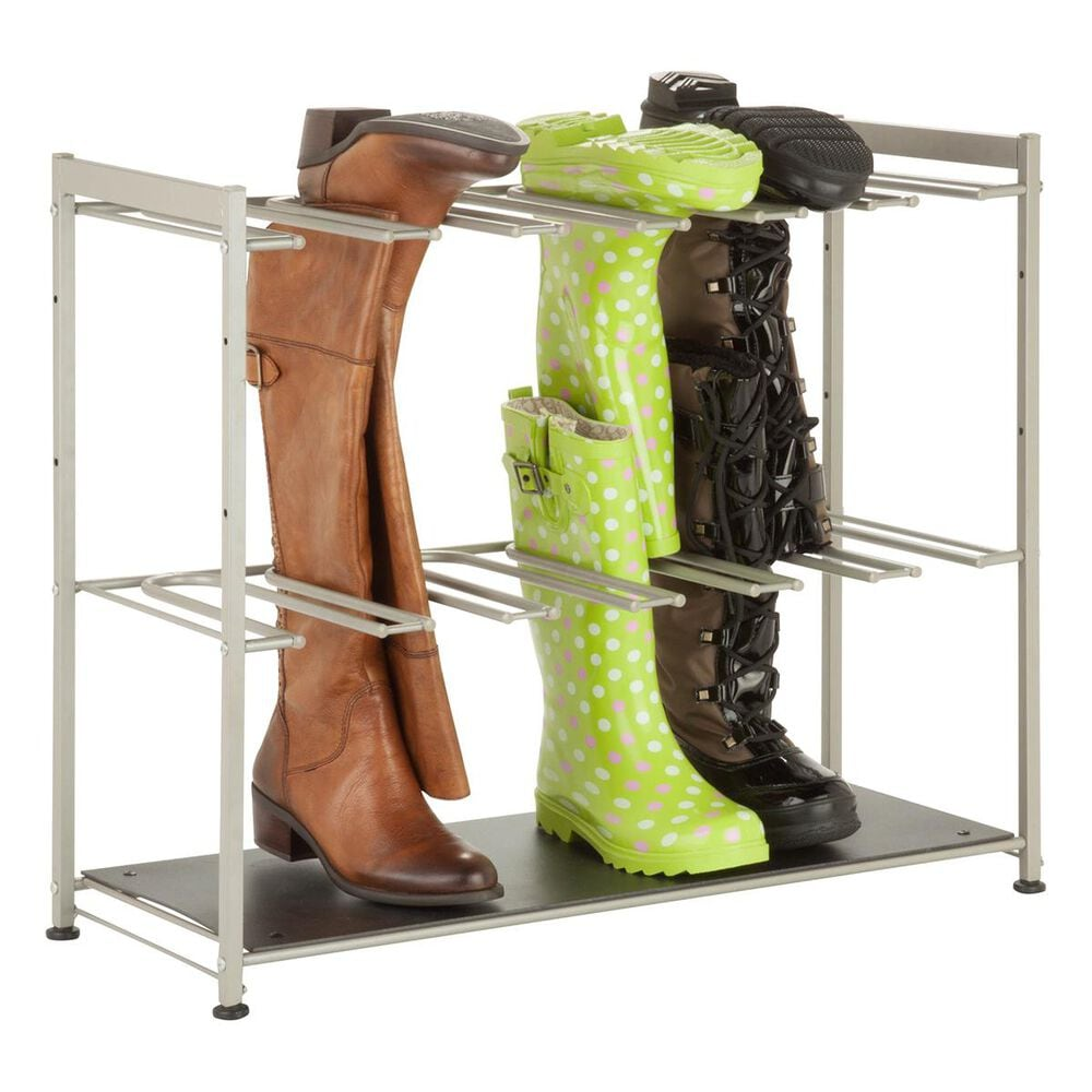 Honey Can Do 6-Pair Boot Rack in Silver, , large