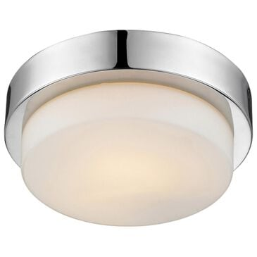 Golden Lighting Multi-Family Flush Mount in Chrome with Opal Glass, , large
