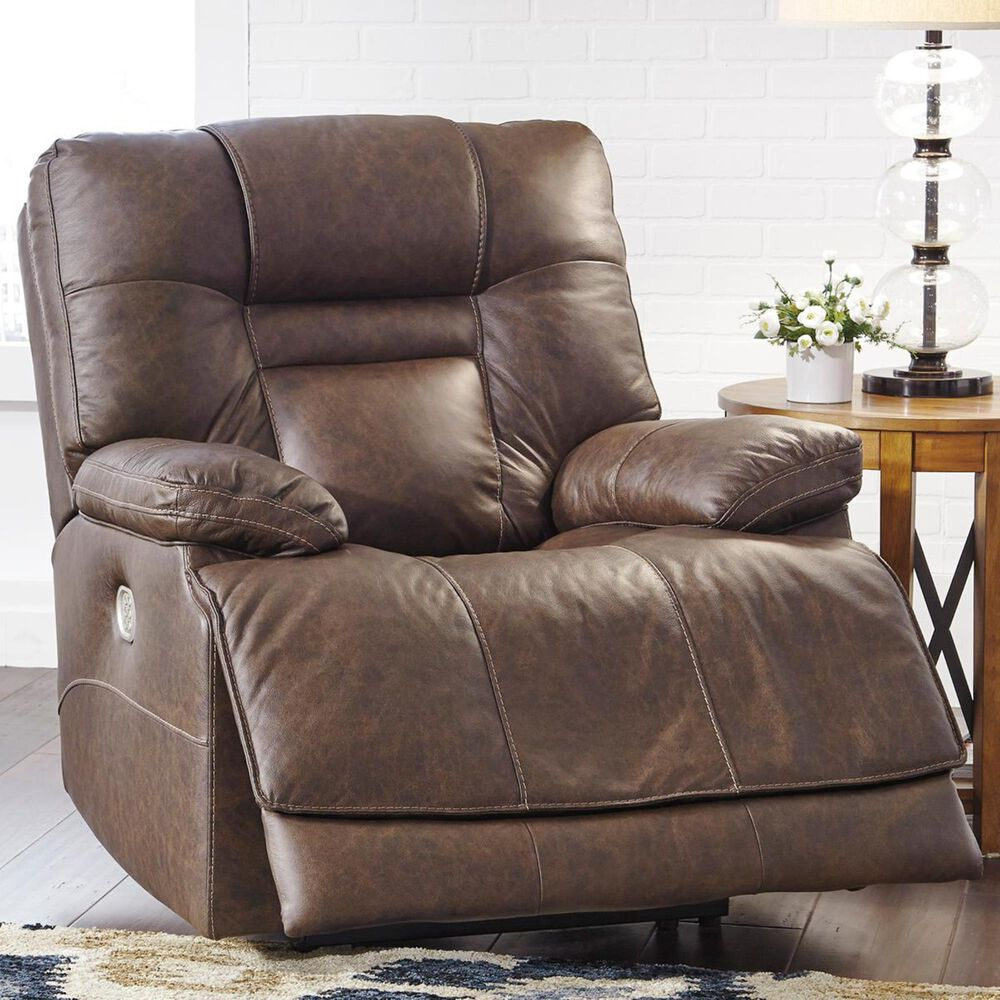 Signature Design by Ashley Wurstrow Power Recliner with Adjustable Headrest in Umber, , large