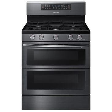 Samsung 5.8 Cu. Ft. Freestanding Gas Double Oven Range in Black Stainless Steel, , large