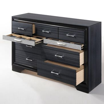 Gunnison Co. Naima 9 Drawer Dresser in Black, , large