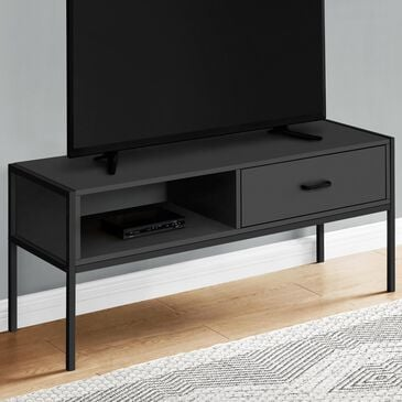 "Monarch Specialties 48"" TV Stand in Black color, , large"