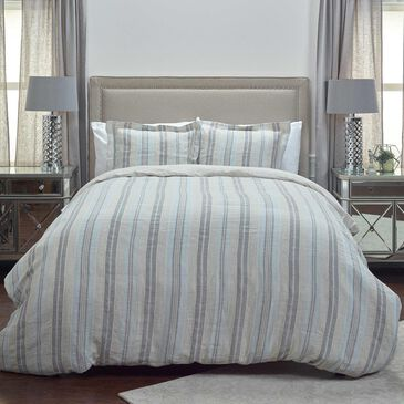 """Rizzy Home Terrance 98"""" x 98"""" Duvet in Gray, , large"""