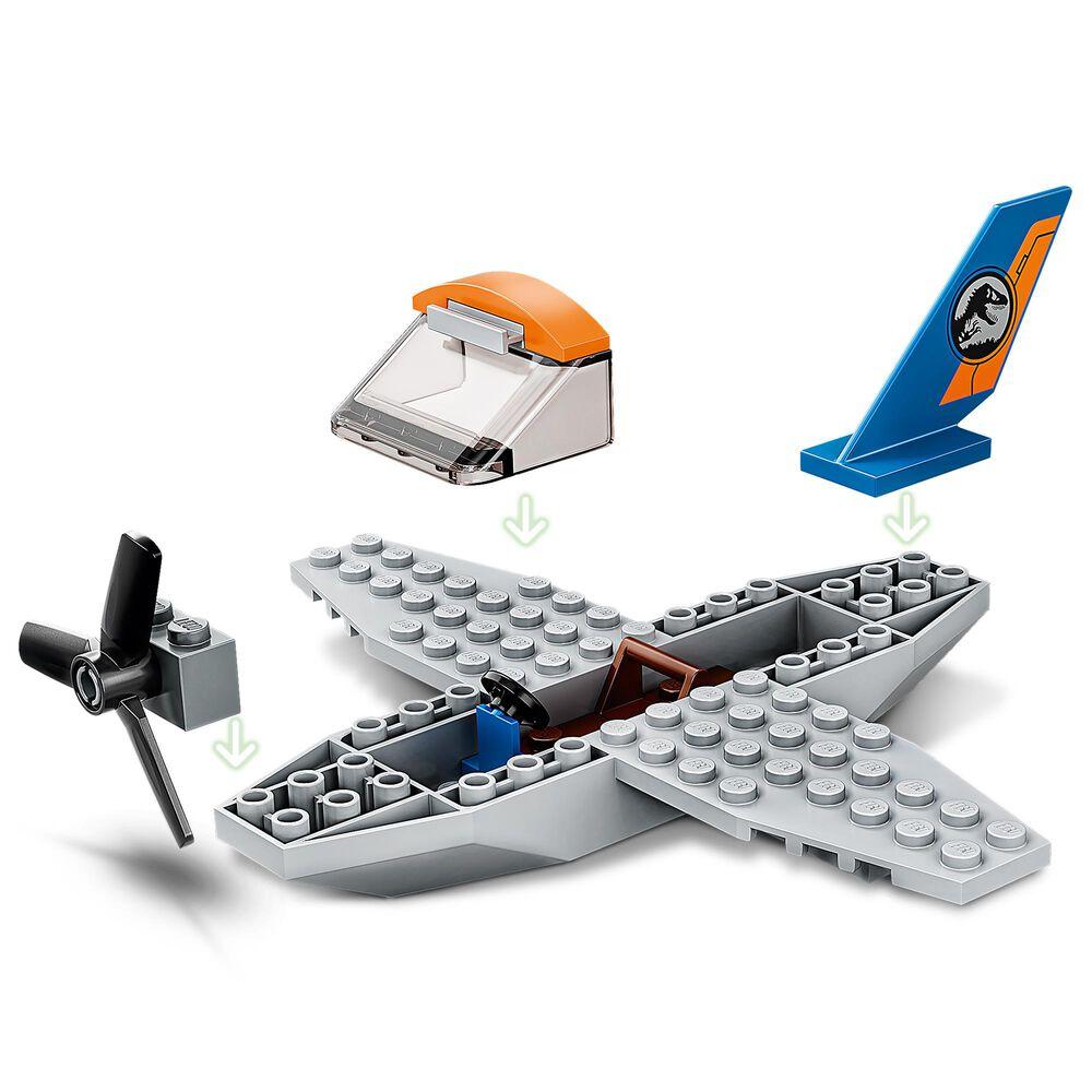 LEGO Jurassic World Velociraptor Biplane Rescue Mission Building Set, , large