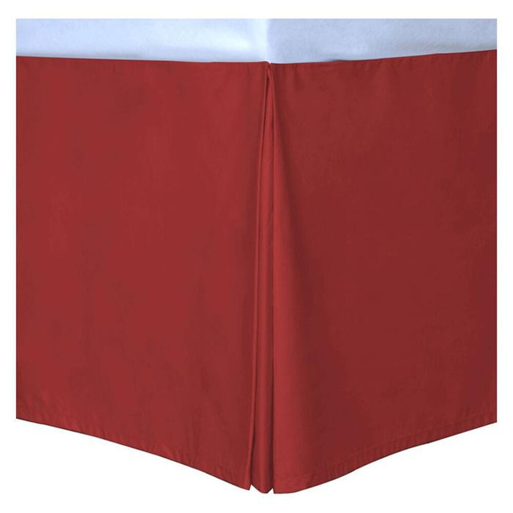 Epoch Hometex Cotton Loft Colors Twin Bed Skirt in Scarlet, , large