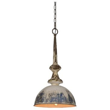 Southern Lighting Liza 1-Light Metal Pendant in Black, Blue and Gold, , large